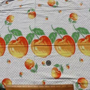 Vintage-American-Printed-c1940-Cotton-Fruit-Apple-Border-Print-L-36-034-X-W-29-034