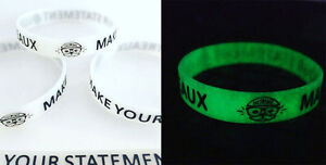 5X-Make-Your-Statement-Glow-In-The-Dark-Silicone-Wristbands-Inspiring