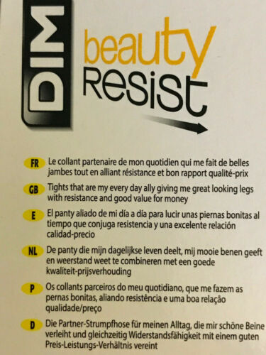 Size 3 DIM Beauty Resist Tights in Black