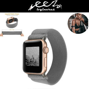 For-Apple-Watch-iWatch-Series-5-4-3-2-1-Scrunchie-Elastics-Loop-Band-Strap-Gray