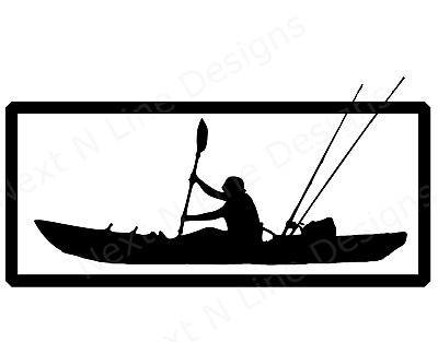 Fishing Window Sticker Rockfish Car Kayak Striped Bass Kayak Fisherman