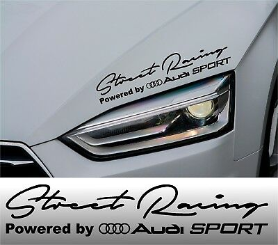 Powered by Audi Decal Stickers