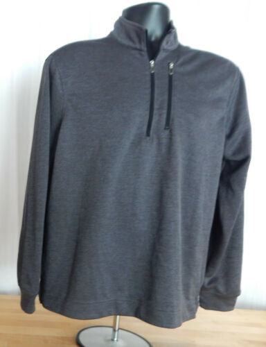 USED Men/'s Bolle Long Sleeve Stretch 1//4 Zip Pullover Top w//Stand Up Collar