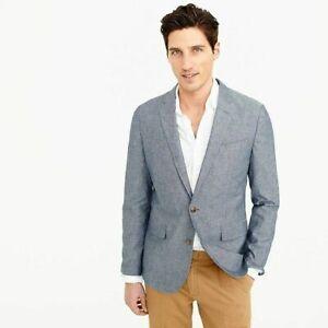 JCrew-168-Ludlow-Slim-Fit-Unstructured-Suit-Jacket-Cotton-Linen-36R-F0127