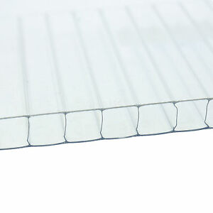 10mm Twinwall Polycarbonate Roofing Sheets Clear Bronze