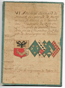 c1700-medieval-genealogy-manuscript-1630-king-advisor-familly-coat-of-arms-2