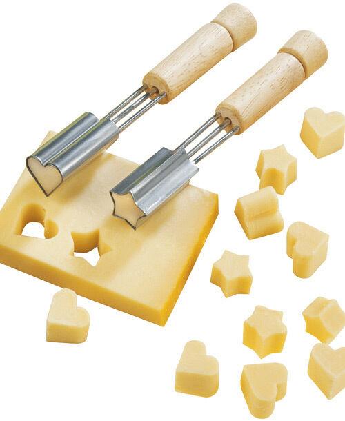 Fackelmann Heart or Star Cheese/Veggie Melon Shape Cutter Parties Finger Food