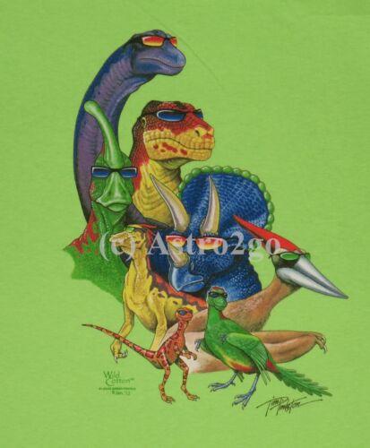 M COOL DINOS--T Rex Tricerotops Apatosaurus Dinosaurs Jurassic Kids T shirts XS
