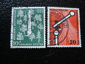 Germany-Rfa-Stamp-Yvert-and-Tellier-N-95-96-Obl-A1-Stamp-Germany