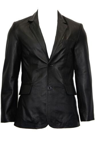 Tr4080 pour de veste en classique noir hommes taillé Blazer manteau cuir nappa souple pPwOx4
