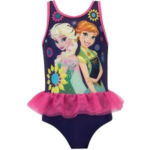b5ebdae6e248e Image is loading Disney-Frozen-Swimming-Costume-Anna-and-Elsa-Swimsuit-