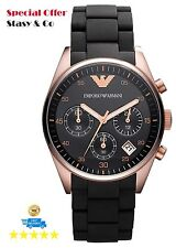 100% Original New Emporio Armani Women's Chronograph Classic Brown Watch AR5906