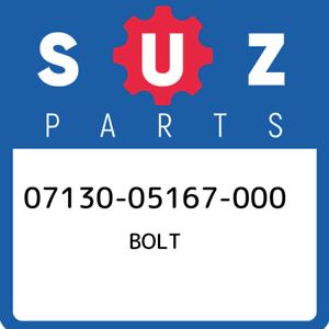 07130-05167-000-Suzuki-Bolt-0713005167000-New-Genuine-OEM-Part