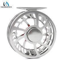 Maxcatch HVC Fliegenrolle 5/6WT Ultralleicht CNC Aluminum Wasserdicht Silber