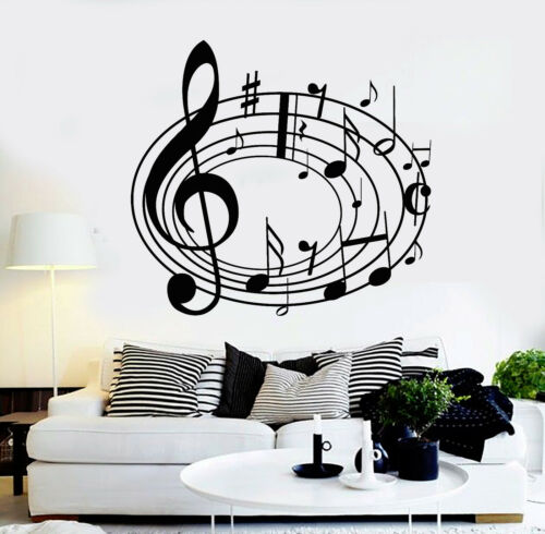 Vinyl Wall Decal Musical Notes Music Art House Interior Stickers (ig4256)