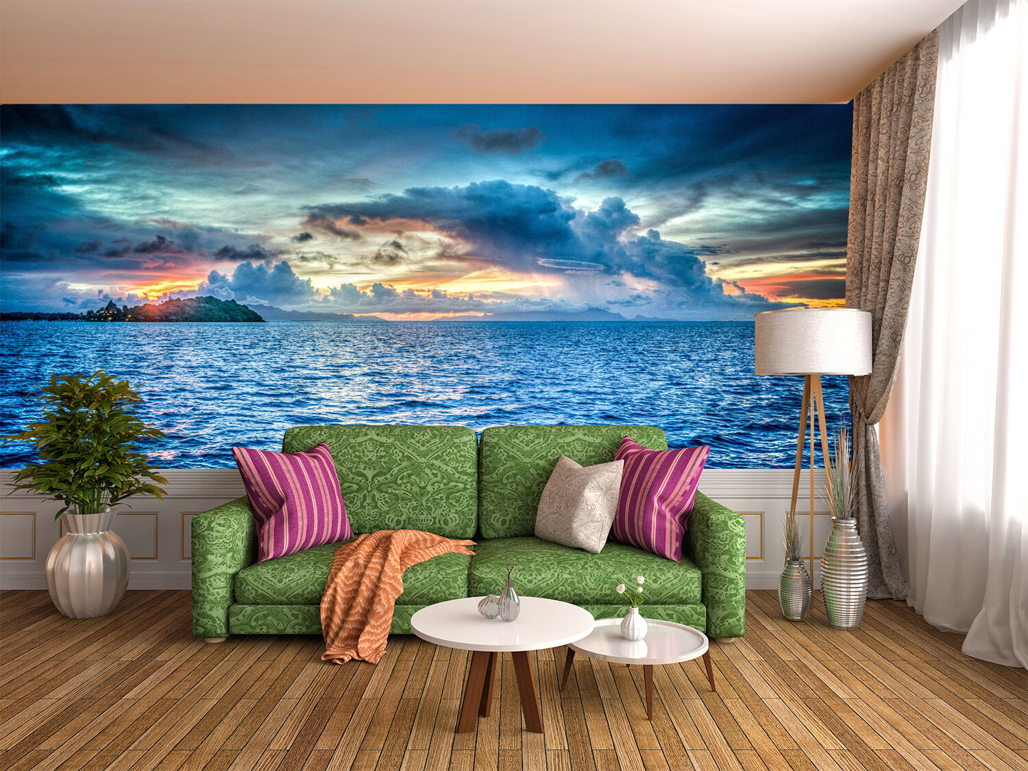 3D Blau Sea Clouds 102 Wall Paper Wall Print Decal Wall Deco Indoor Wall