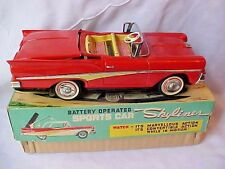 T.N NOMURA KOSUGE 1958 FORD SKYLINER CONVERTIBLE / BATTERY OP. / TIN JAPAN / BOX