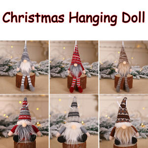 Toys-Home-Decor-Xmas-Tree-Hanging-Pendant-Plush-Gnome-Doll-Christmas-Ornament
