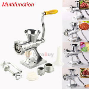 Manual-Meat-Grinder-Mincer-Stuffer-Sausage-Pasta-Filler-Maker-Machine-Table-Hand
