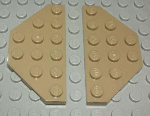 Lego Platte schräg 3x6 Dunkelbeige 2 Stück 2007