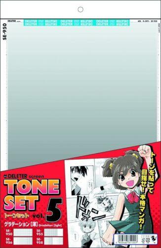 Deleter Manga Comic Supplies Screen Tone Set Vol.5 Beginners Light gradation