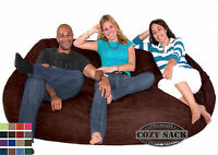 Bean Bag Chairs Factory Direct Cozy Sack Suede 7.5' Foam Filled Comfort