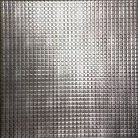2 Ft X 2 Ft Decorative Ceiling Panel Chocolate Squares In Crosshatch Silver Pvc