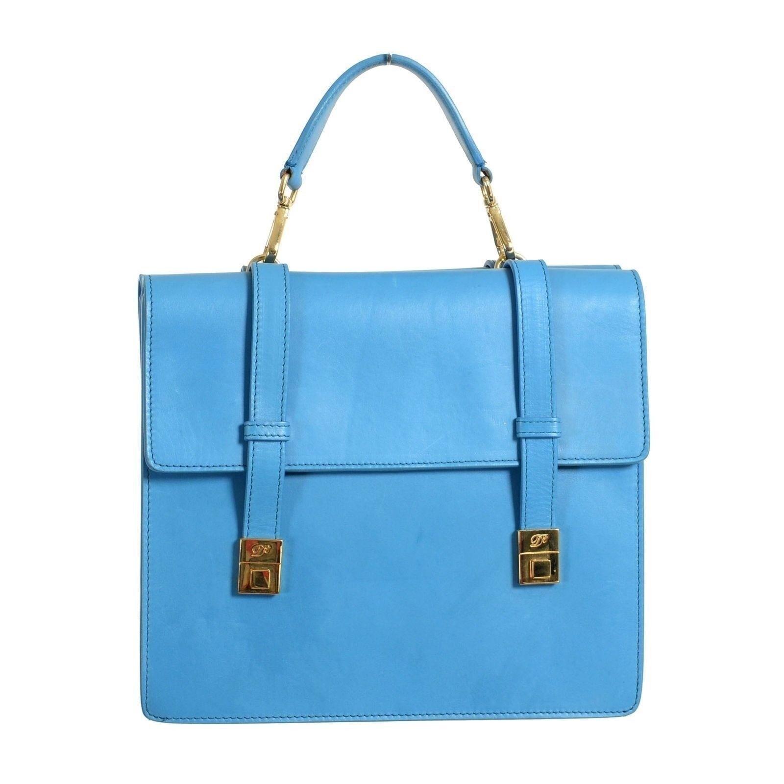 c5f3826389 DsquaRouge 2 Cuir Cuir Cuir Bleu Femmes Sac A Main | Pratique Et économique  2c14dc