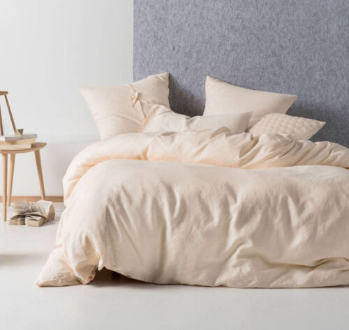 100/% Linen BRAND NEW Linen House Nimes Peach Duvet Doona Quilt Cover Set