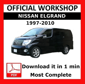 official workshop manual service repair nissan elgrand 1997 2010 rh ebay ie Nissan Pathfinder Repair Manual Nissan Repair Diagrams