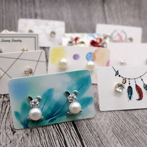 Image Is Loading 100 Kraft Paper Necklace Display Cards Hang Tags
