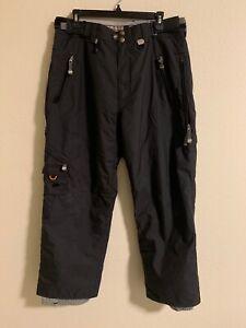 686 Pantalones Tipo Cargo De Nieve Las Empresas Para Hombre Negro Talla Xl Ebay