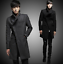 thumbnail 1 - Wool Blend Stand Collar Coat Slim Fit Jacket Men's Mid Length Parkas Asymmetric