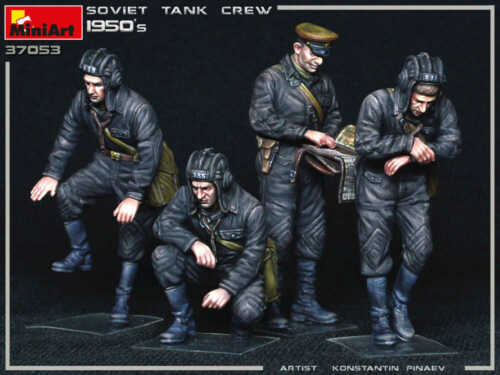 Soviet Tank Crew 1950s 1//35 MiniArt  37053 Plastic Model Kit 4 Figures