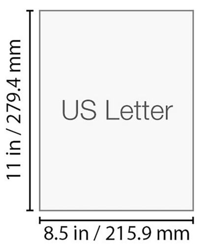 500 Blatt US Letter Papier Weiß Hochwertig 8,5 x 11 inch 21,6 x 27,9 cm