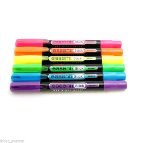 Monami Essenti Stick Bright Type Highlighter Bright 5 Colors Sets