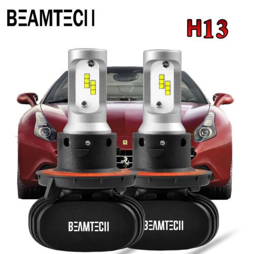 H13 9008 LED Headlight Bulbs for Jeep Liberty 2008-2012 Patriot 2007-2017 Lights