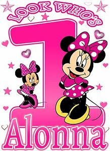 Personalized minnie mouse wall decal
