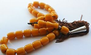 NEW WORRY PRAYER BEADS TESBIH (IMITATION BAKELITE CATALIN) 33 + 1 82 grams