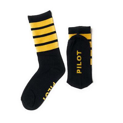 Angemessen Piloten Herren Socken Organische Baumwolle 4 Streifen Uk Größe 9-11 Husten Heilen Und Auswurf Erleichtern Und Heiserkeit Lindern