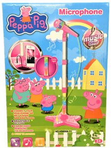 Peppa-Pig-Stand-Music-Microphone-Musical-Voice-Tube-Toy-Sound-Light-Kid-Gift-AU