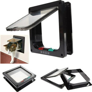 4-Way-Magnetic-Lockable-Dog-CAT-Pet-Kitty-Flap-Freedom-Door-Small-Medium-3Colors