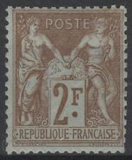 "FRANCE STAMP TIMBRE YVERT  N° 105 "" SAGE 2F BISTRE SUR AZURE "" NEUF xx TB  M977"
