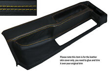 YELLOW STITCHING CENTRE CONSOLE LEATHER SKIN COVER FITS BMW 3 SERIES E30 84-91