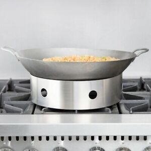 "18"" Cantonese Wok Restaurant Home Cooking Pan DeepFry Hand Hammered Carbon Steel"