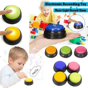 Recordable Talking Button Game Answer Buzzer Alarm Button 4 color suit Led UK