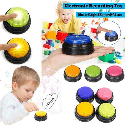 Recordable Talking Button Game Answer Buzzer Alarm Button 4 color suit Led W0W2