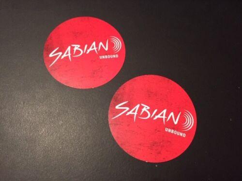 """2 pcs Sabian Cymbals Unbound Stickers 3/"""" Round"""