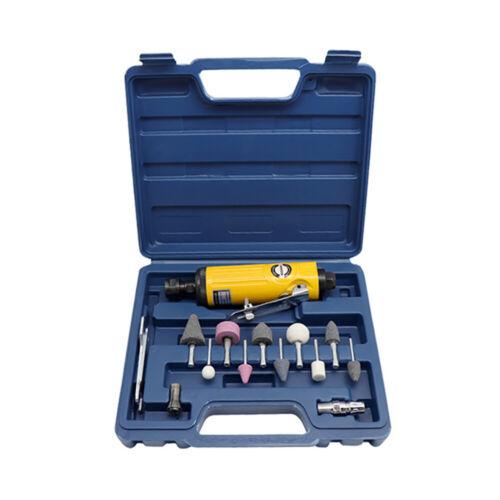 Air Die Grinder Kit Mini Straight Metal Pneumatic Sander Machine Polishing Grind