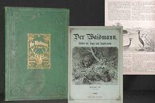 DER WAIDMANN  Blätter für Jäger und Jagdfreunde 2. Bd 1871 SELTEN Jagd